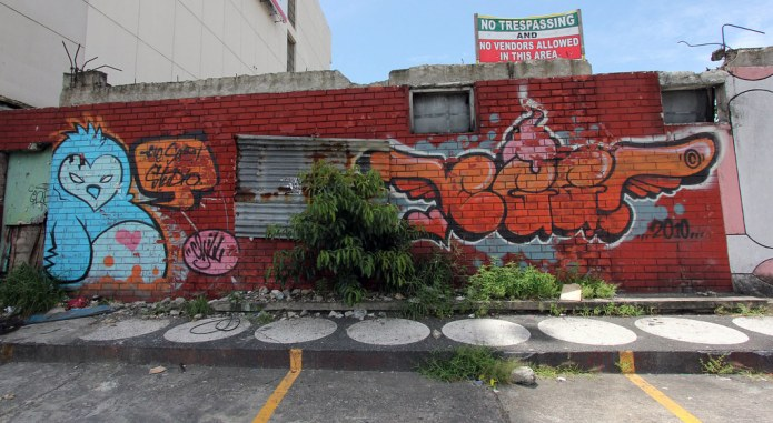 graffiti along Quezon Avenue