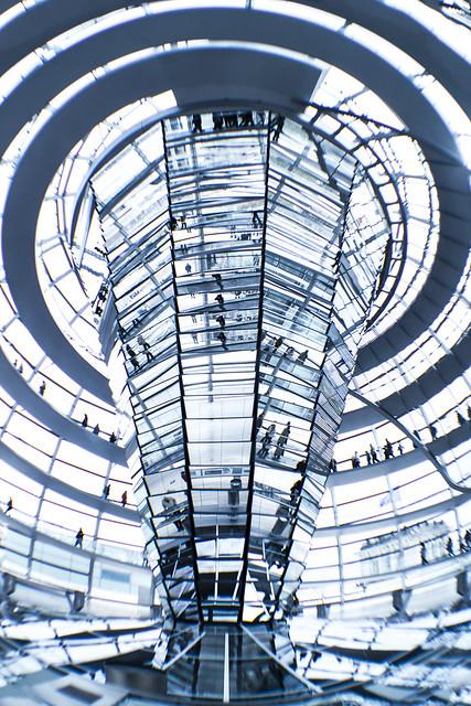 Nellu Mazilu, Berlin, DEU, Germany, Reichstagsgebäude Plenarbereich, Reichstagsgebäude, Reichstag, Reichstag dome, mirrors