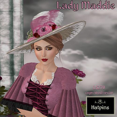 Hatpins - Lady Maddie Hat - Pink