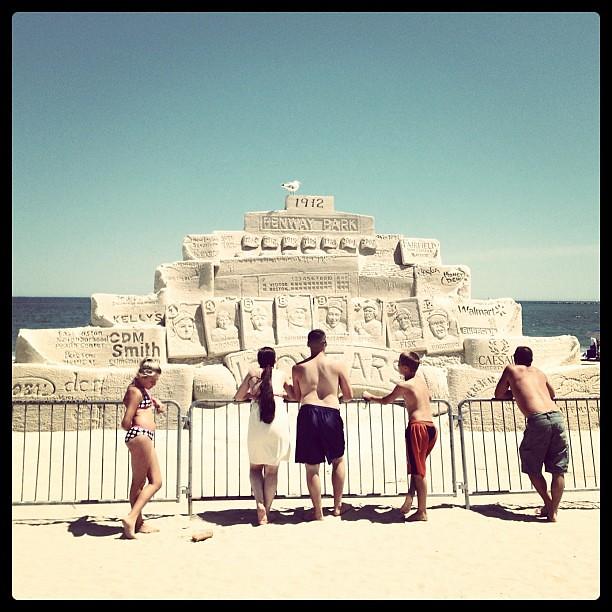 Fenway Park sand castle