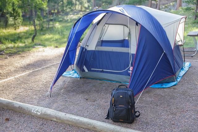 Case Logic SLRC-206 on camping trip