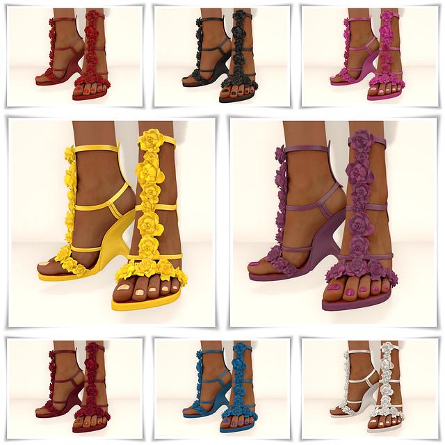 Petal Sandals