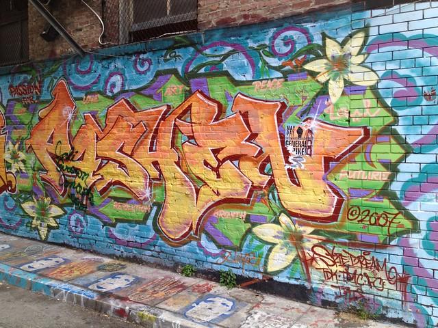"""Pashen"" graffiti mural, Osage Street"