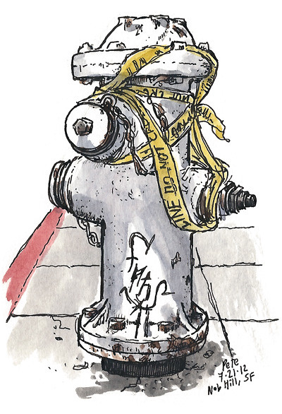 hydrant on nob hill