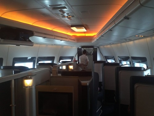 BA First Class Cabin on the 747