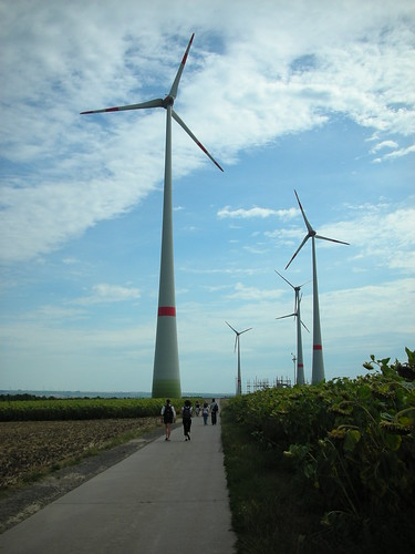 Wind Turbines in Worrstadt in Germany