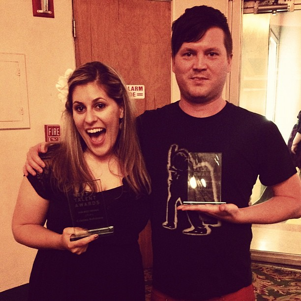 Cremer and I with our web awards!