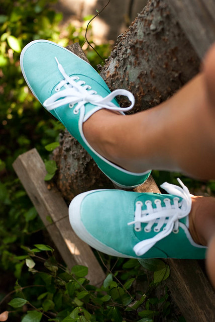 turquoise ombre keds