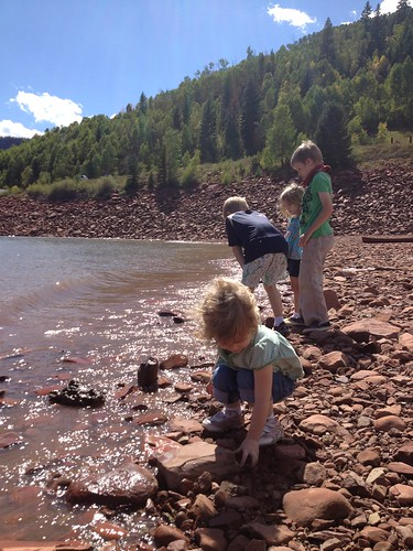 Throwing Rocks and Looking for Craw-dads