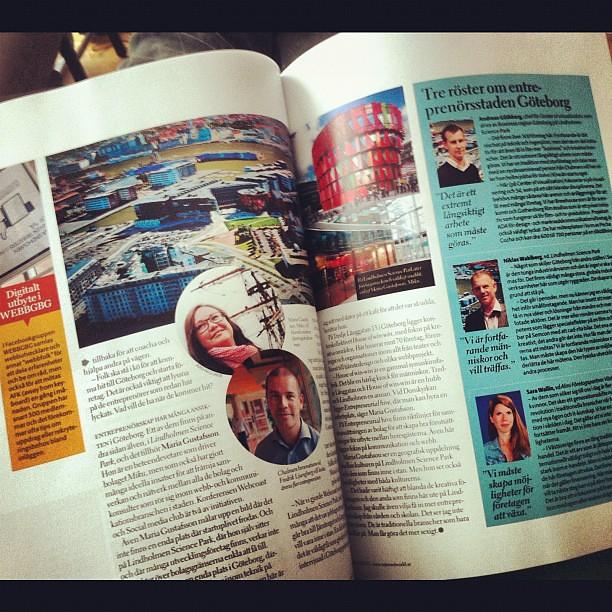 Uppslag i nya numret av #Internetworld. Mitt reportage om Göteborgs entreprenörsklimat (6 sidor totalt). @mikumaria, där är du ju.