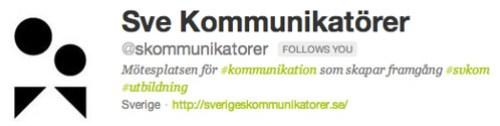 Sveriges Kommunikatörer Tvitter header