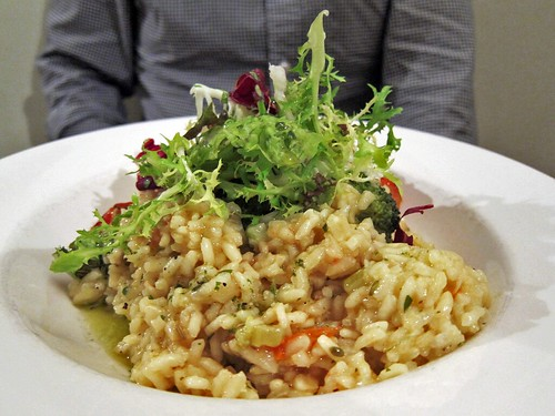 Plate of risotto.