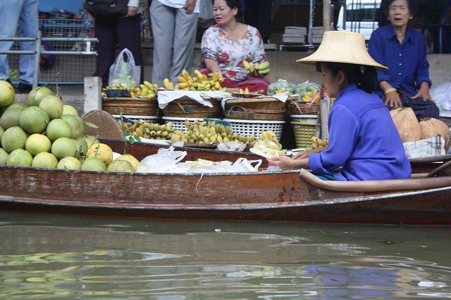 Floating Market Near Bangkok Thailand