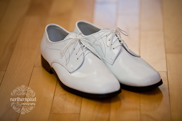 Groom's White Shoes