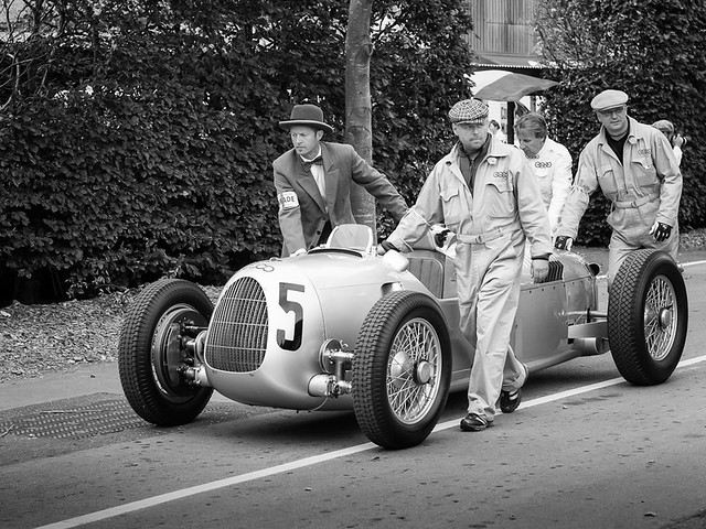 An Auto Union - one of The Silver Arrows