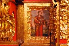 Detalle del retablo de la iglesia de San Saturnino