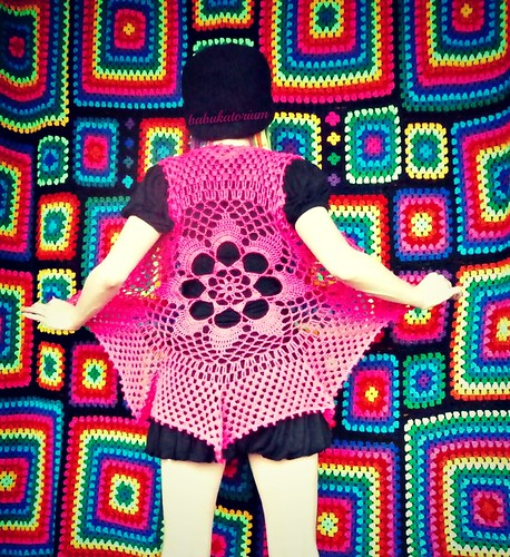 Hot Pink Flower Mandala Vest