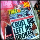 An example of dumbing down. Today's tabloids 'coverage' of Neil's death.