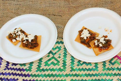 Guelaguetza oyster mushroom & cactus tostadas