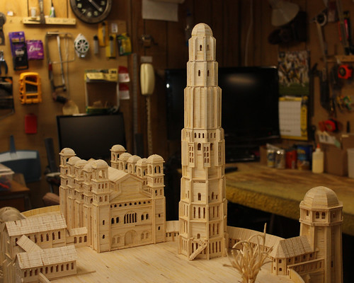 The nearly finished Minas Tirith Model
