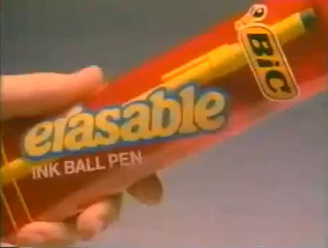 Bic Erasable pens