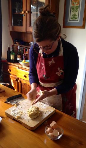 adele making pasta