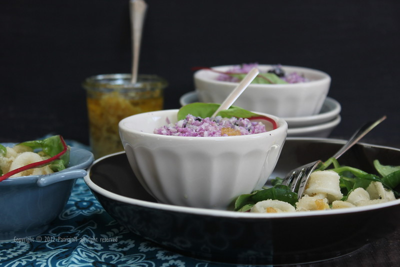 purple cauliflower couscous