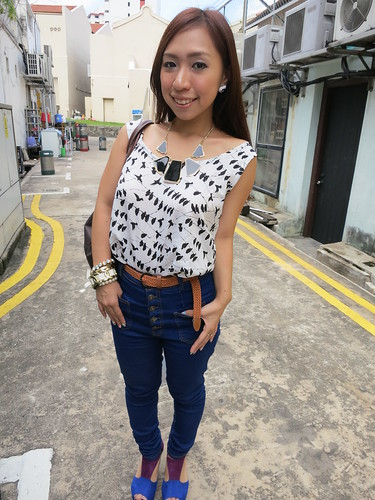fashion blog, lookbook, Outfit of the day, outfit post, outfits, Singapore Fashion Blog, singapore lifestyle blog, Today's outfit, Birdy top, What I wore today?, WIWT, Look of the day, nadnut
