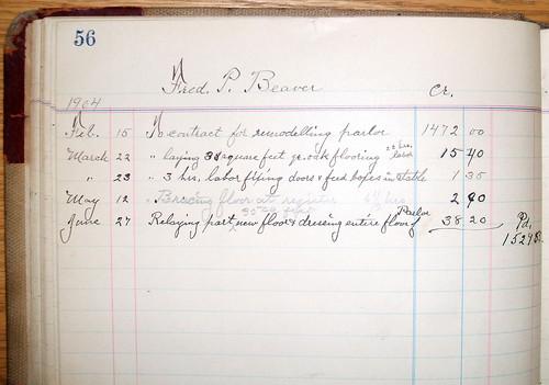 Mittendorf's work for FP Beaver, 1904