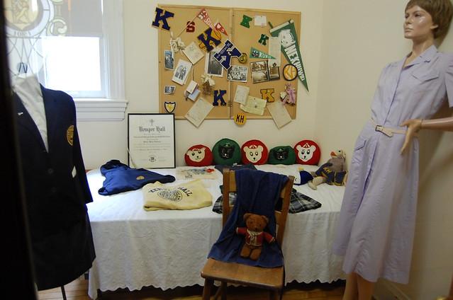 Dorm Room and Uniform display