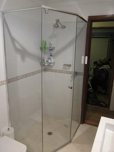 Upstairs bathroom showerscreen
