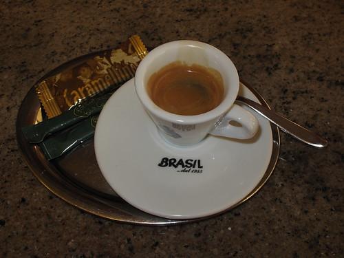 Espresso im Eiscafé Fontanella in Osnabrück