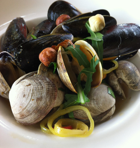 Clams and Mussels, Sooke Harbour House, BC.