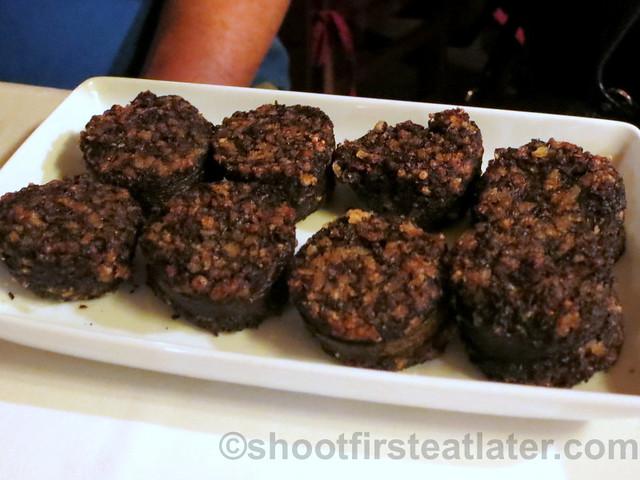 morcilla de Burgos (black sausage from Burgos) €8,70