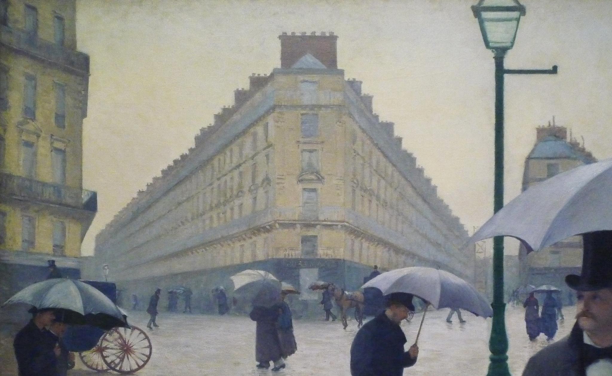 Gustave Caillebotte Paris Street Rainy Day building