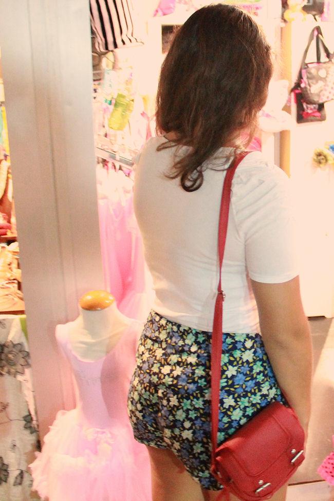 Shorts de flores