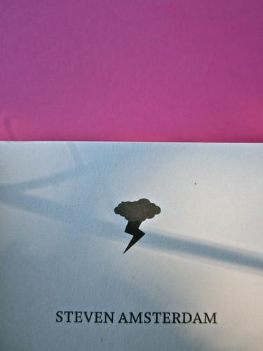 Steven Amsterdam, Ritratto di famiglia con superpoteri, ISBN 2012. Grafica: Alice Beniero. Frontespizio (part.), 2