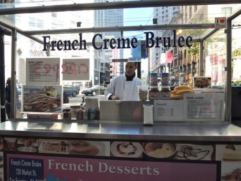 French Creme Brulee stand