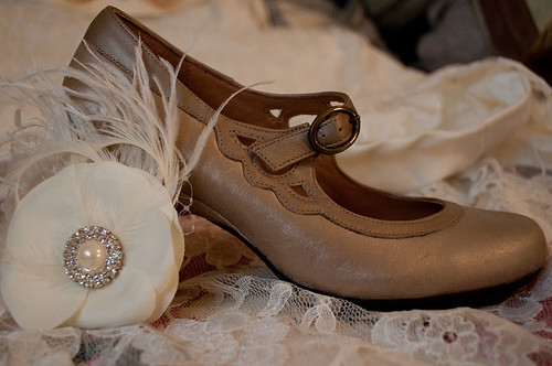 Shoes and hair fascinator