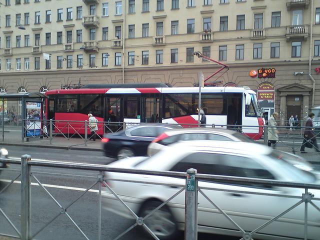 Трамвай на Лиговском проспекте // Tram at Ligovsky prospekt