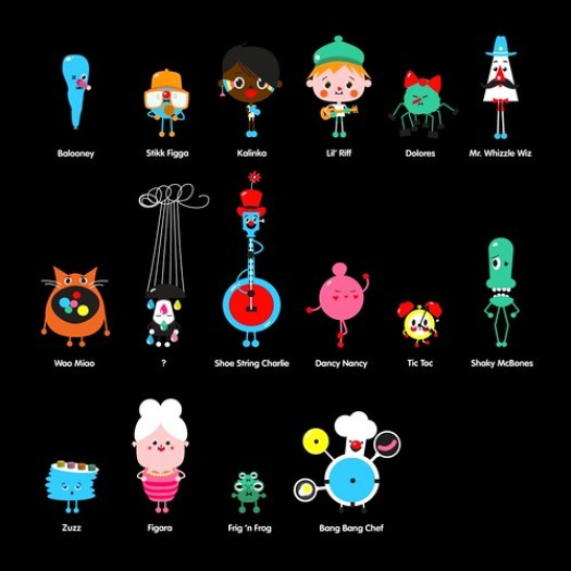 Toca Band Characters