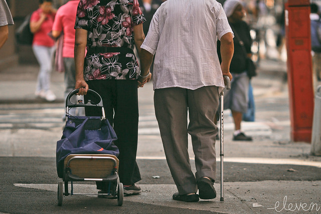 """""""Holding Hands"""", by Eleven ~ NYC~ slowly going..."""