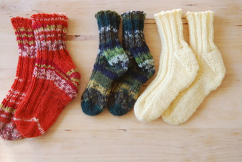 Ribbed baby socks