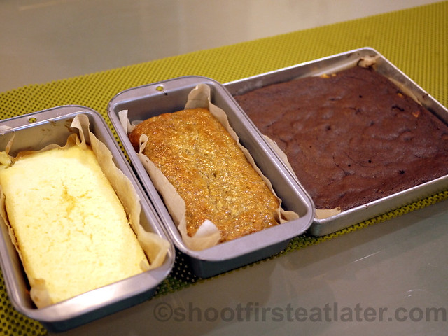 Maya Butter Cake, Banana Cake & Fudge Brownie