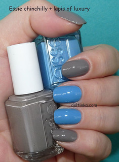 Essie chinchilly + lapis of luxury
