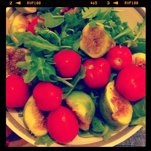 rockets, figs and tomatoes