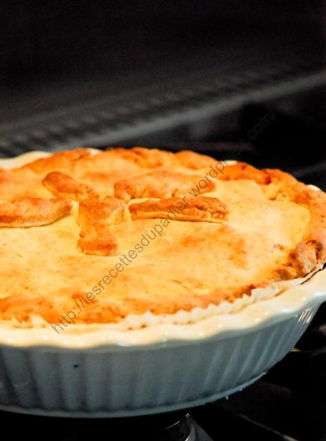 Tourte aux pommes en croûte de Cheddar / Apple Pie with Cheddar Crust