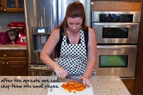 chop apricots