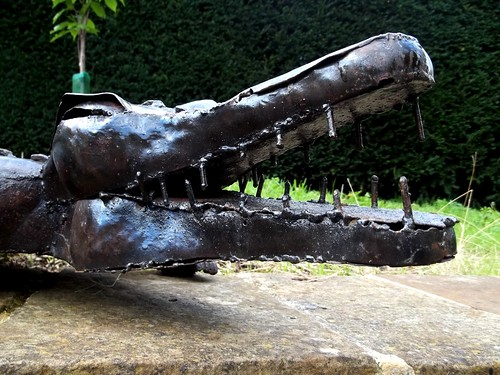 20120831-01_Upton House Gardens - Iron Crocodile by gary.hadden