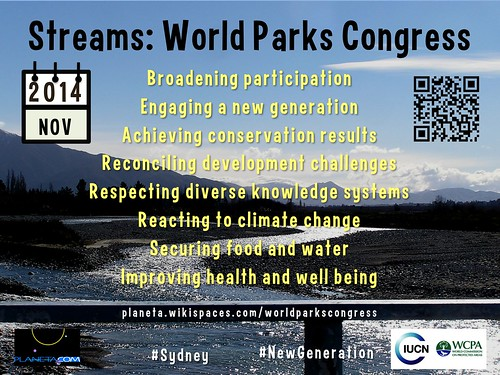 Main Streams for the 2014 World Parks Congress #sydney #NewGeneration @IUCN
